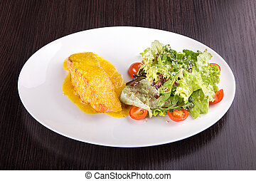 Salmon fillet with cheese