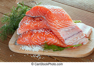 Salmon fillet with dill