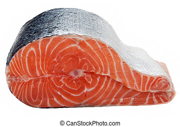 Salmon fish - Healthy eating seafood - red raw salmon fish...