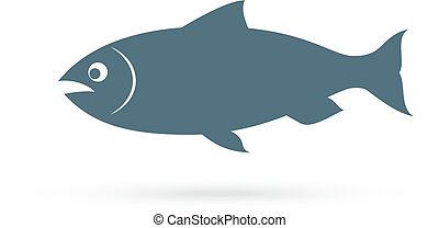 Salmon fish vector icon