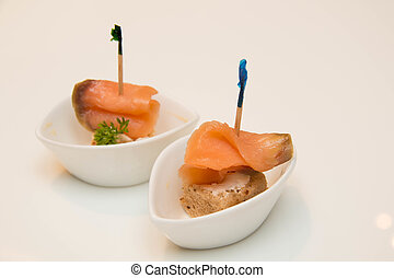 Salmon fresh and pickled