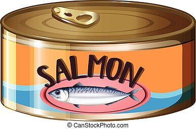 Salmon in aluminum can
