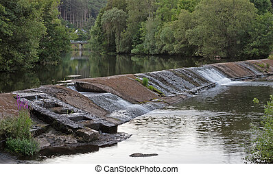 Salmon ladder in a river