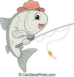 Salmon Mascot - Mascot Illustration Featuring a Mascot...