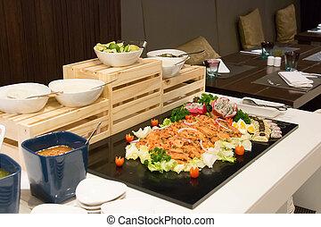 salmon pickled Japanese cuisine