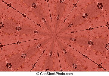 Salmon pink kaleidoscope background - A subtle shade of ...
