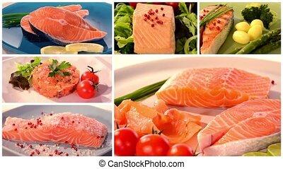 salmon recipes collage