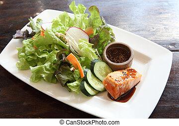 salmon salad japanese style