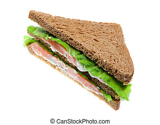 salmon sandwiches. isolated