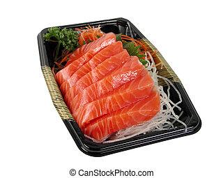 Salmon sashimi box