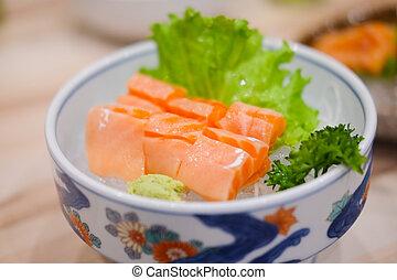 Salmon Sashimi set japanese food style