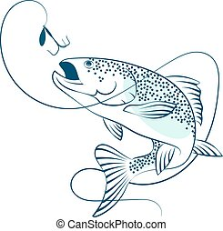 salmon, springt, lokaas