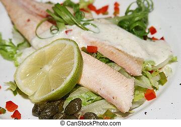Salmon starter - Salmon and lemon starter dish