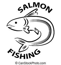 salmon, visserij, pictogram