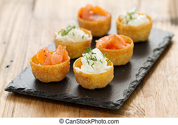 salmon with fresh cheese