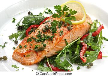 salmone, cena