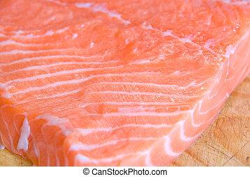 salmone, closeup