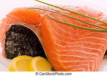salmone, filet