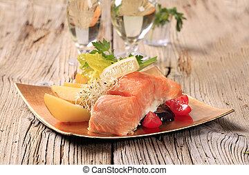 salmone, filetto