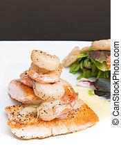 salmone, gamberetto