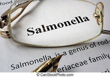 salmonella, diagnosi