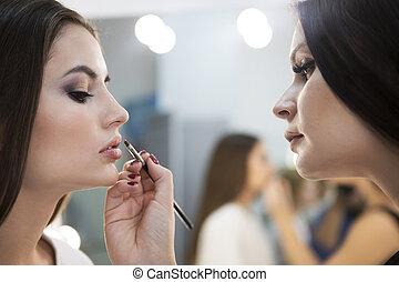 salon, beauty, kunstenaar, opmaken, professioneel