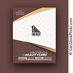 salon, beauty, &, poster, flyer, mal, voorkant, care