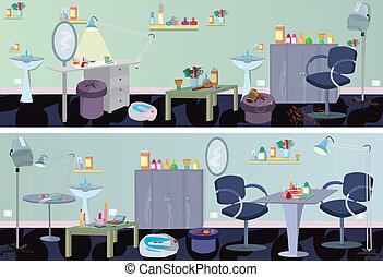 salon, chorągiew, przyrządy, piękno, meble