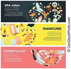 salon, ensemble, promo, cosmétologie, manucure, spa,...