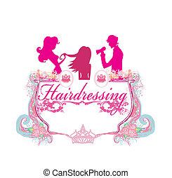 salon, hairdressing, ikone