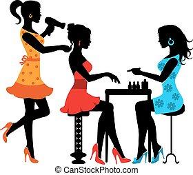 salon, kvinde, skønhed