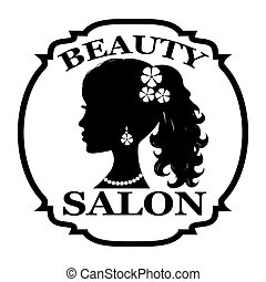 salon, logo, skönhet