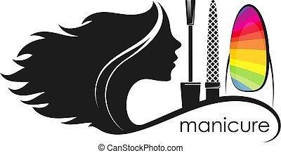 Salon manicure for women