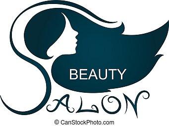 salon, silhuett, skönhet
