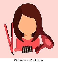 salon, skønhed
