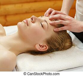 salon, soucier, beauty., facial, sur, spa, masage