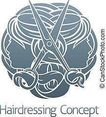 Salon Stylist Hairdresser Concept - Hairdresser hair salon...