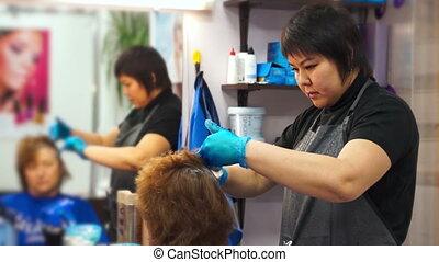 salon, travail, coiffeur