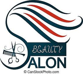 salon, vektor, schoenheit