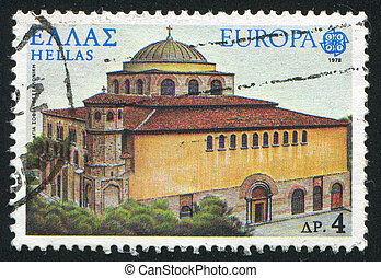 Salonica - GREECE - CIRCA 1978: stamp printed by Greece,...