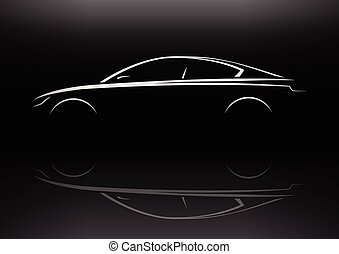 Saloon Executive Car Silhouette - Modern Vehicle Sports...
