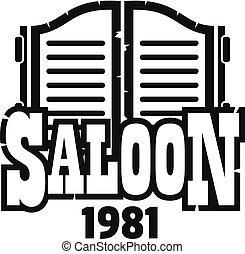 Saloon texas logo, simple style