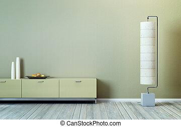 salotto, disegno, stanza