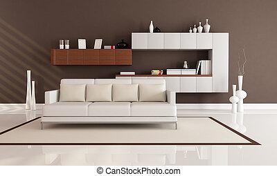 salotto, elegante, moderno