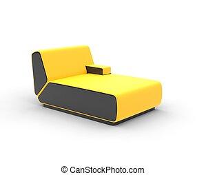 salotto, moderno, giallo