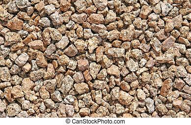 salpicado, pedras