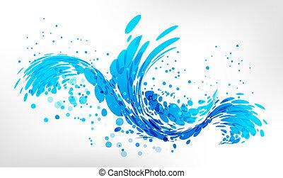 salpicadura, agua