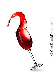 salpicadura, de, vino rojo