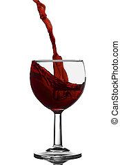 salpicadura, vino rojo