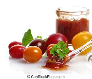 Salsa And Fresh Tomatoes
